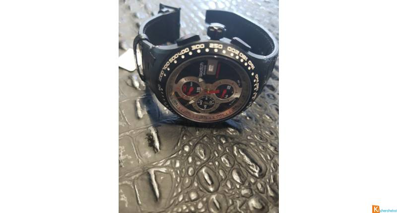 MONTRE SWATCH AUTOMATIQUE CHRONO BRACELET CUIR