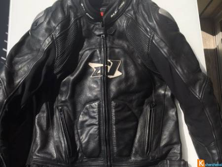 BLOUSON MOTO CUIR  ALL ONE