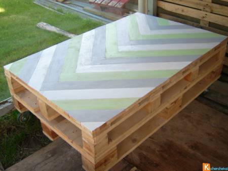 TABLE BASSE TYPE PALETTE