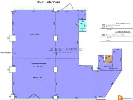 Local 300 m² de plain pied - Paris
