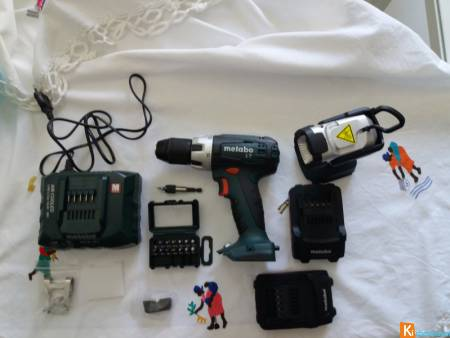 VISSEUSE PERCEUSE METABO BS 18 LT set