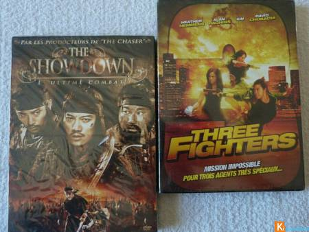 Lot 2 DVD Three Fighters The Showdown neuf