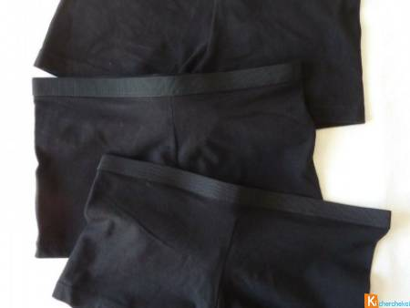 Lot 3 boxers noir taille 36-38 neuf (241)