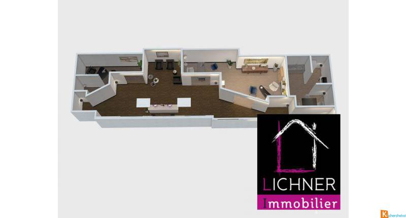 loue grand local commercial 132 m² - Forbach