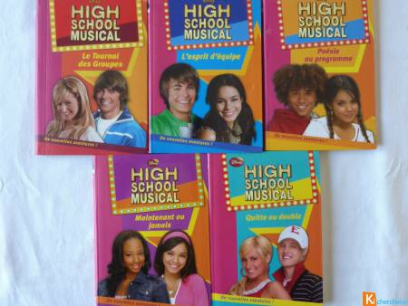 Lot de 5 livres High school musical Disney