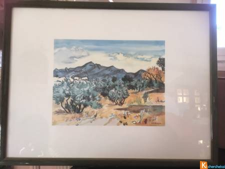 Reproduction Aquarelle Yves BRAYER