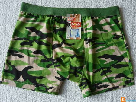 Boxer vert motif militaire taille XL neuf (49)
