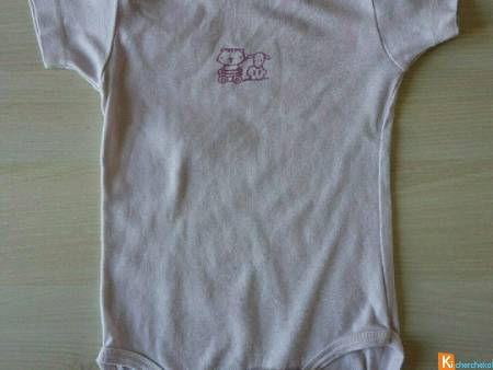 Body rose clair taille 12 mois (occas72)
