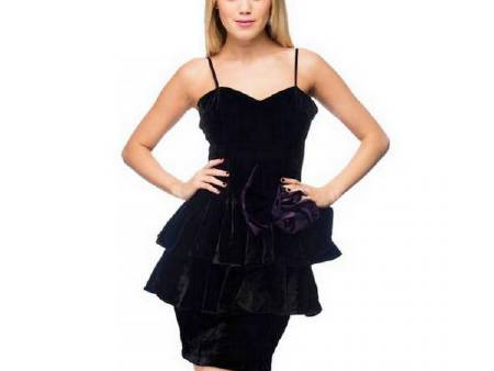 Robe de cocktail velours noir