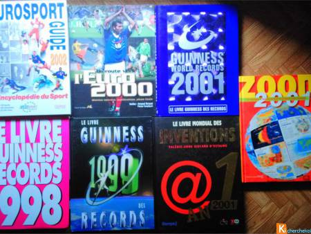 Lot 7 Livres Guinness, Inventions, Eurosport, ...