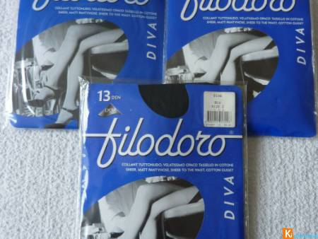 Lot de 3 collants taille 2 neuf filodoro (129)