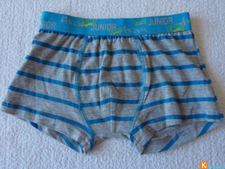Boxer gris rayures taille 6-8 ans neuf (206)
