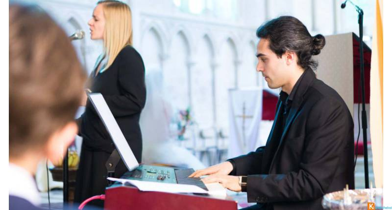 Duo chanteuse pianiste messe mariage Orne