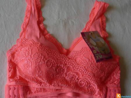 Brassière Fitness rose S-M, L-XL neuf (bdent)