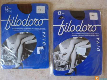 Lot 2 Collants voile taille 2 neuf filodoro (128)