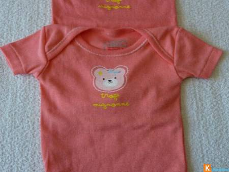 Lot 2 body rose taille 3 mois neuf Absorba (19)