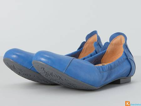 "THINK BALLERINES ""BALLA""Bleu F. Pointure 37 NEUVES"