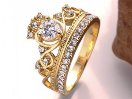 Bague style couronne