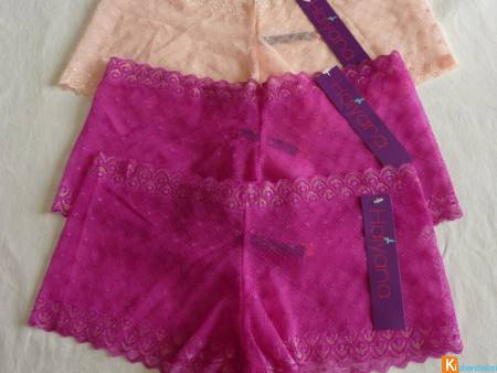 Lot de 6 Shorty taille M neuf Haiyana (346)