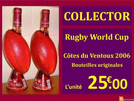 Bouteilles collector RUGBY WORLD CUP