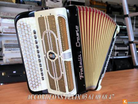ACCORDEON FRATELLI CROSIO STRADELLA DOUBLE BOITE.