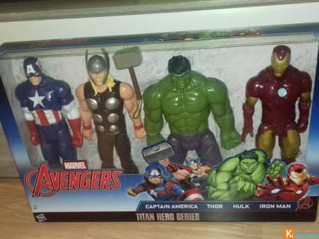 pack 4 figurines avengers 30cm