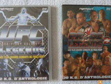 Lot 2 DVD UFC et Pride Legends 2 neuf (lot4)