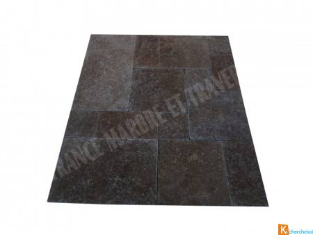 Travertin Noce Marron Opus Romain 3cm 1er Choix