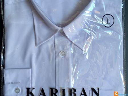 CHEMISE KARIBAN TAILLE L BLANCHE