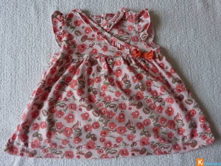 Robe rose motif 12 mois occasion (occas29)
