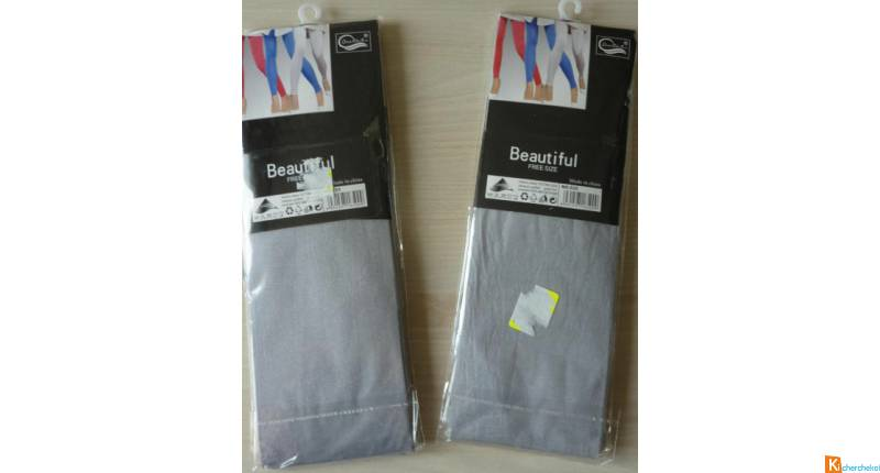 Lot 2 leggings gris taille unique neuf (16)