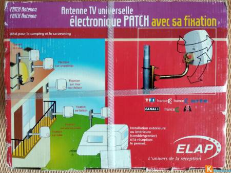 Antenne TV PATCH ELAP avec fixation universelle