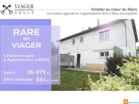 RARE en VIAGER - 3 appartements dont 2 libres - Le Mans