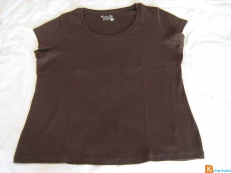 Tee-shirt Basic marron