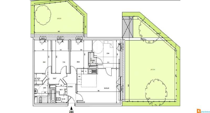 APT 5 PIECES 81.34m2 254 000euro;