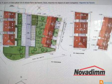 Special investisseurs, superbe parcelle constructible proche Met - Silly-sur-Nied