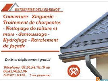 couverture ravalement demoussage toiture epernay