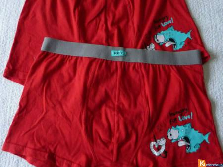 Lot 2 Boxers rouge taille L neuf (124)