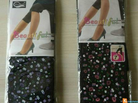Lot 2 leggings court noir motif TU neuf (19)