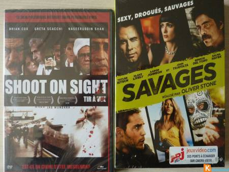 2 DVD Savages/SHOOT ON SIGHT neuf (Lot11)