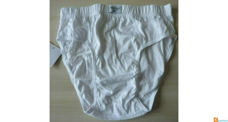 Slip blanc coton taille S neuf  New Age (152)