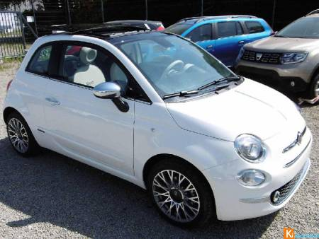 Fiat 500 1.2 69 Ch Lounge Toit Ouvrant Skydome