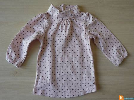 Pull rose mtoif sous-pull 6 mois (occas55)