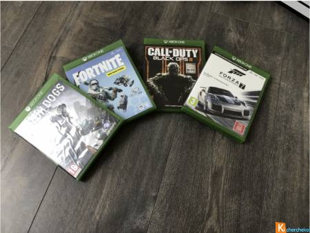 Xbox one S 1to + 4 jeux + 2 manettes