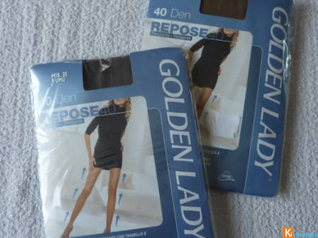 Lot de 2 Collants taille 2 neuf Golden Lady (47)