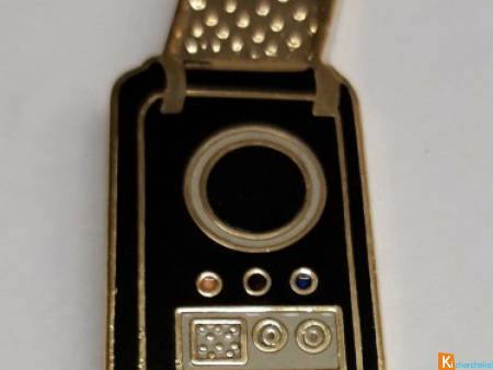 Star Trek Communicator Pin Vintage Enamel Gold Ton