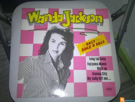 Vinyle Wanda Jackson  Only rock n roll  1978