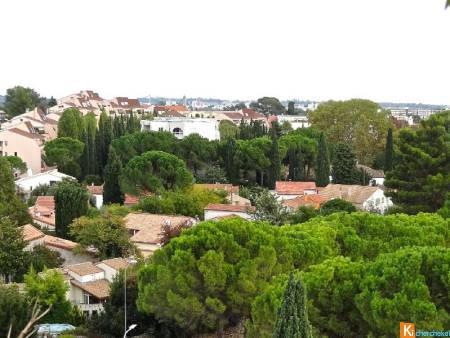 Dpt (34) Hérault - A vendre à Montpellier - RARE ! En DERNIER ETAGE, 95 m2 TRAVERSANTS + GARAGE + PARKING + CELLIER...