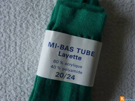 Chaussettes vert taille 20/24 neuf Layette (6)