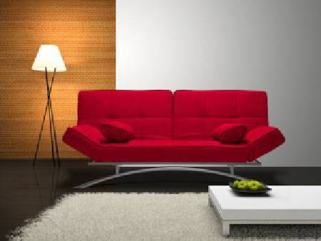 BANQUETTE CONVERTIBLE ROUGE